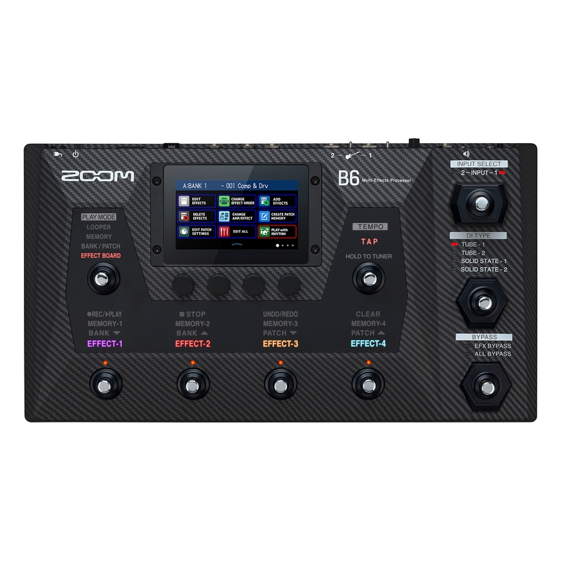 Zoom B6 Multi-Effects Processor Pedal for Bass Guitar w/ 4.3? Color LCD Touchscreen