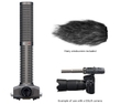 Zoom SSH-6 Stereo Shotgun Mic Capsule with Hairy Windscreen for H5, H6, or Q8 Recorders