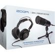 Zoom ZDM-1 Podcast Mic Pack Microphone, Mic Stand, Headphones & Cable Bundle